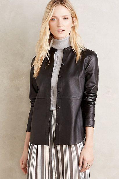 Current/Elliott Washed Leather Jacket #anthropologie