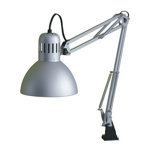 Ikea Tertial Adjustable Work Light Clamp On Desk Garage Lamp Shop Office Ikea Lamp Ikea Desk Lamp Work Lamp