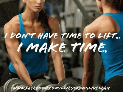 You can make the time for your Exercise.