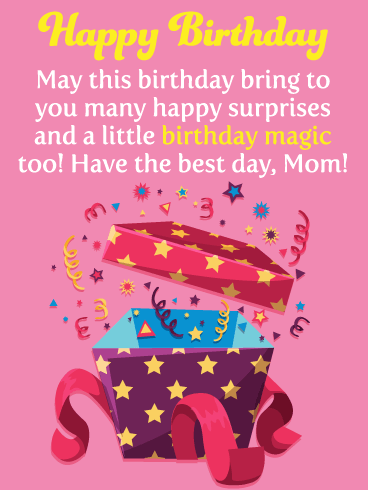 Send A Little Birthday Magic Over To Your Mother This Year Along