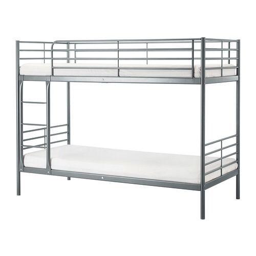 Ikea White Metal Bunk Beds In Home Furniture Diy Mattresses Ebay