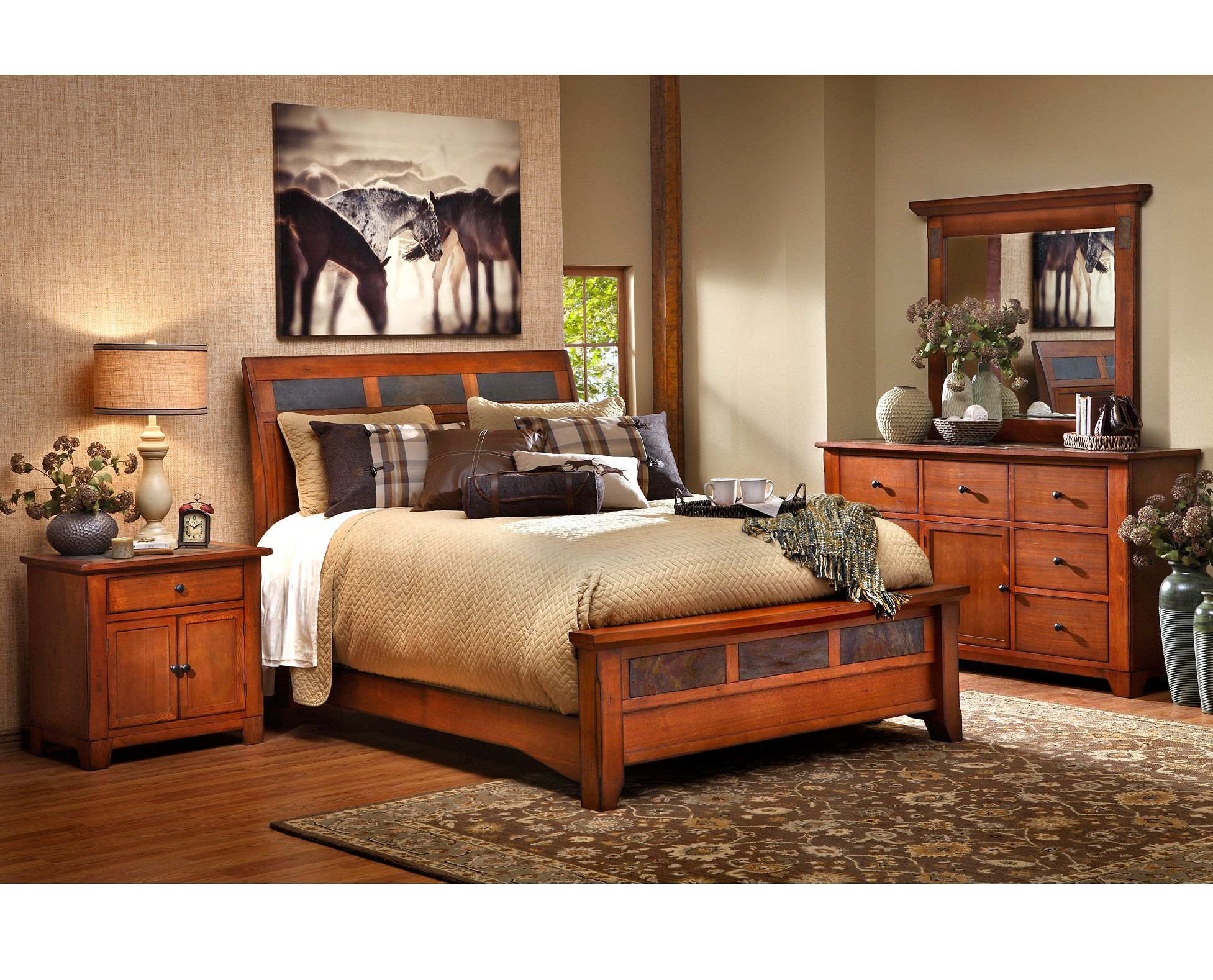 Beds Aspen Sleigh Bed Lodge Inspired Yet Versatile