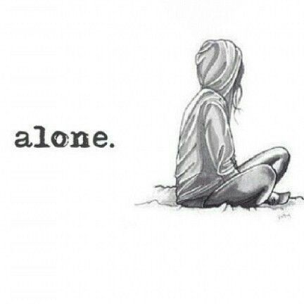All alone in this world sad girl