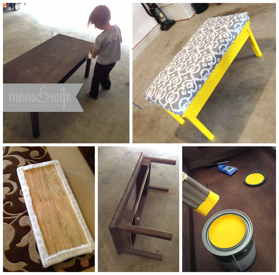 Diy round coffee table ottoman - Diy Coffee Table Turned Into An Ottoman