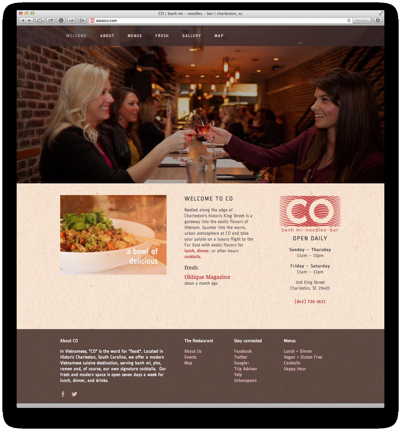 CO | Website – homepage  eatatCO.com