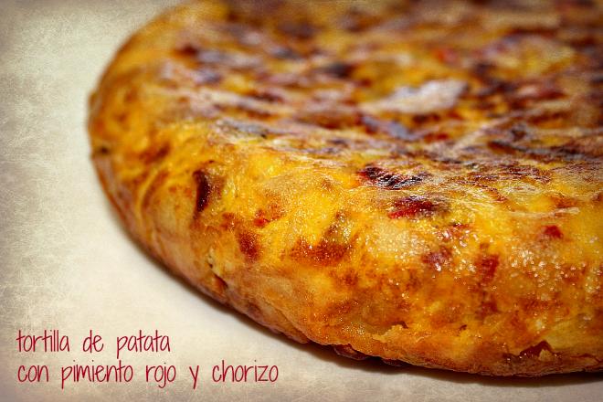 Complicaciones las justas: Tortilla de patata con pimiento