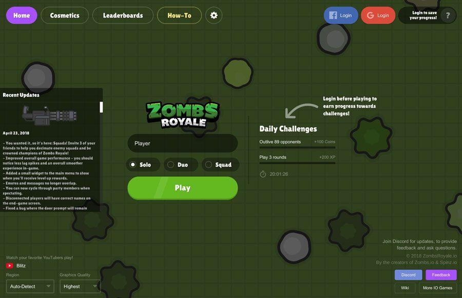 2d battle royale game | ZombsRoyale io  2019-04-13