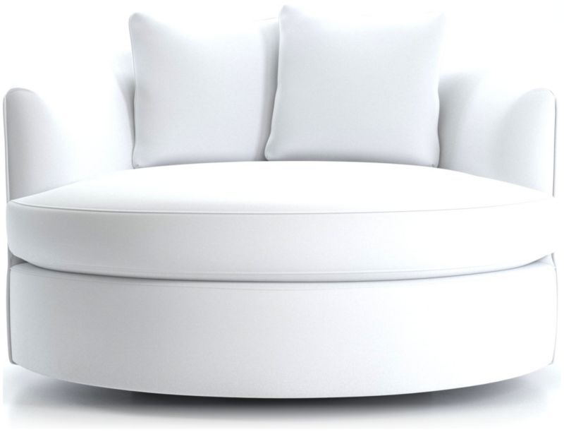 Tillie grand swivel chair crate and barrel in 2020