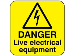 Pin En Electrical Hazard Labels Electrical Warning Signs