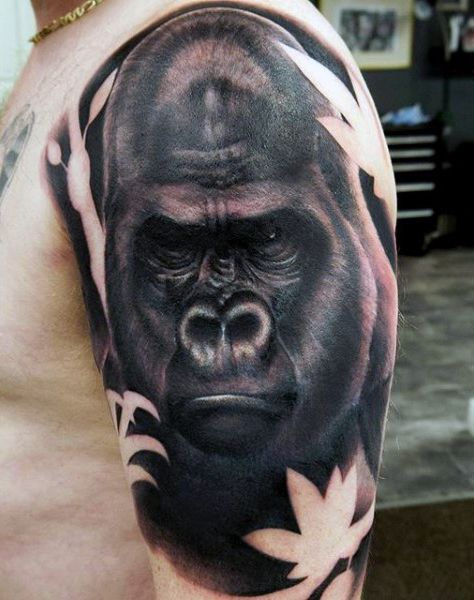 3f8b9be47 100 Gorilla Tattoo Designs For Men - Great Ape Ideas | Gorilla other ...