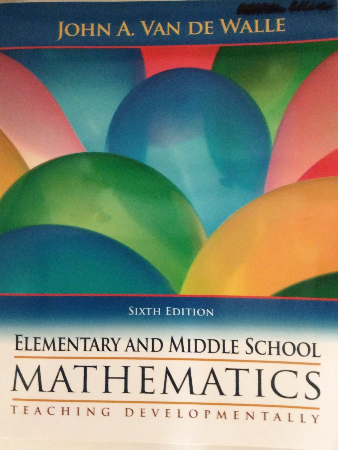 Elementary And Middle School Mathematics by John A Van De Walle ...