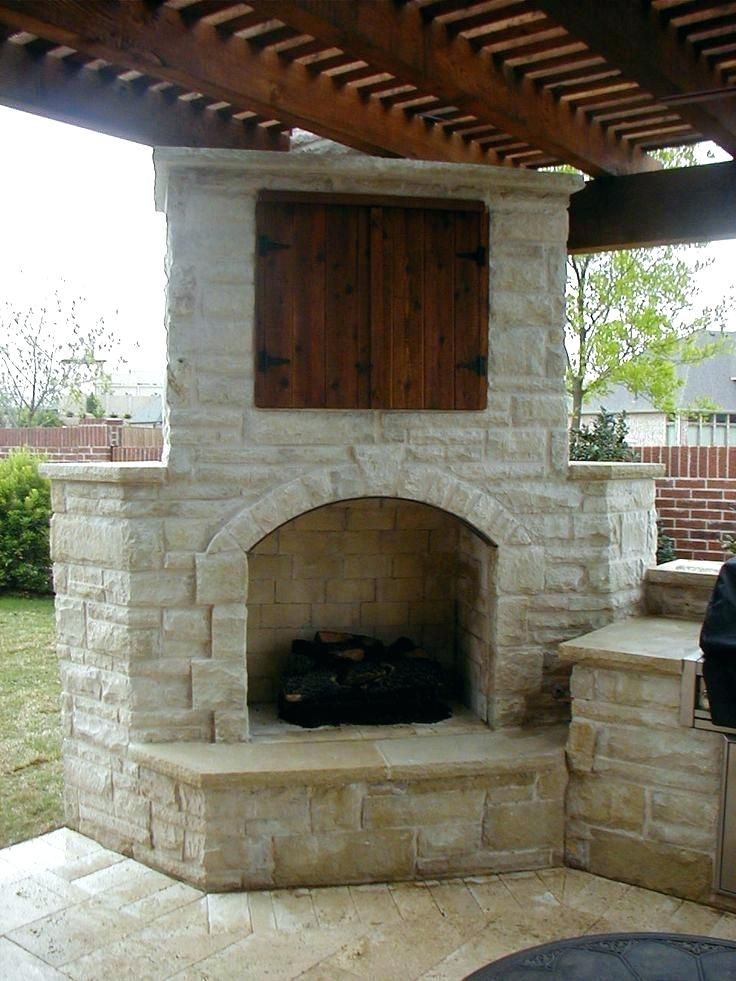Stacked Stone Outdoor Fireplace Outdoor ... | Outdoor ... on Rock And Stone Outdoor Living id=46024