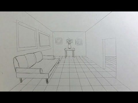 how to draw stairs step by step in two point perspective youtube pencil projects 1 point. Black Bedroom Furniture Sets. Home Design Ideas