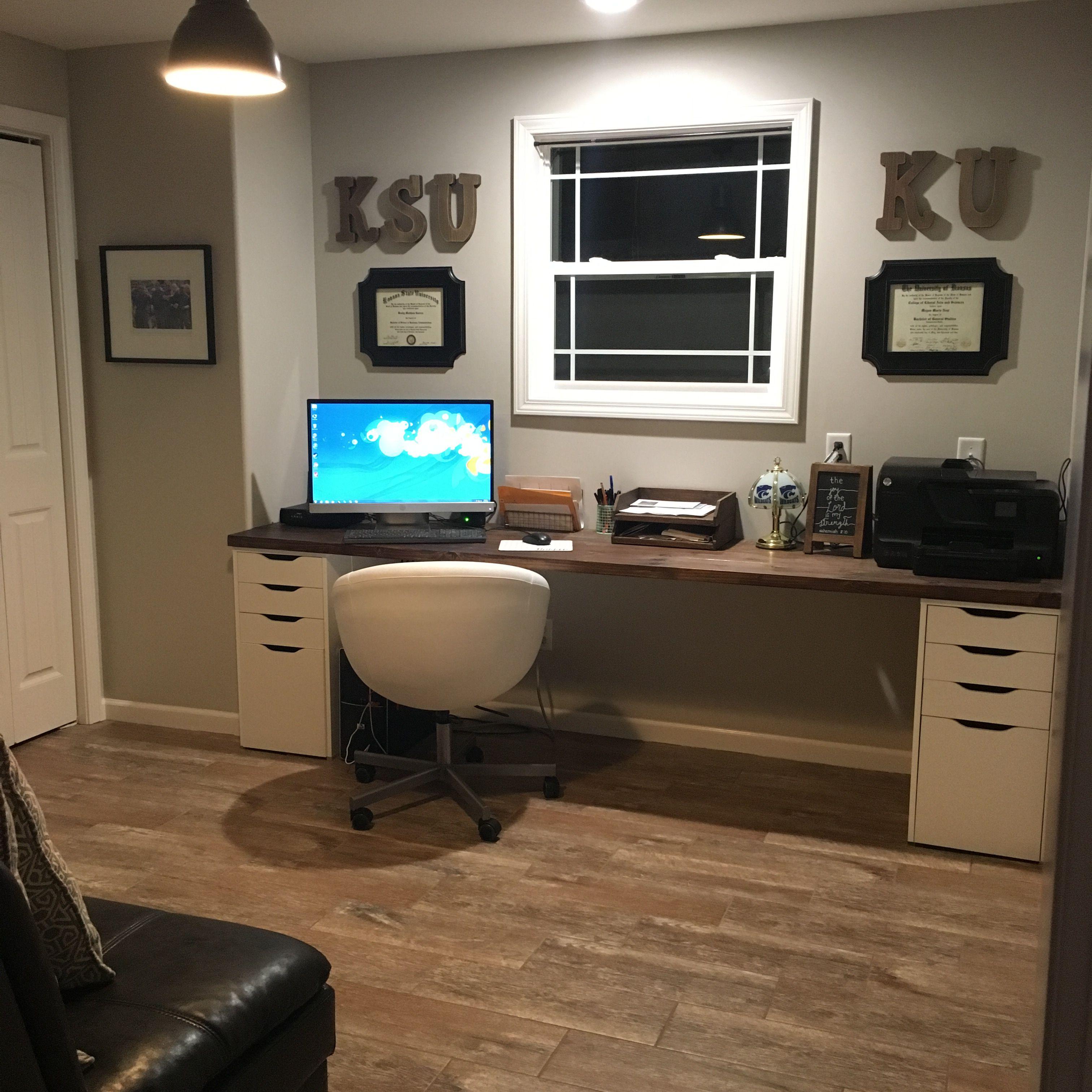 Diy Home Office. #ikea #hobbylobby #target #woodtilefloor