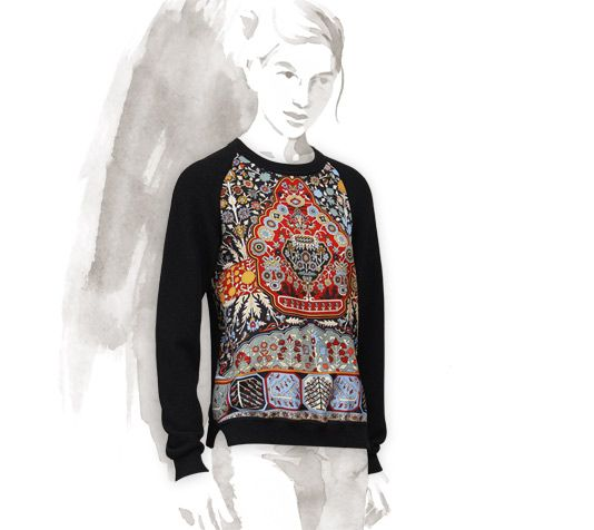 Twillaine Sweater Tapis Persans Hermes Twillaine Sweater In