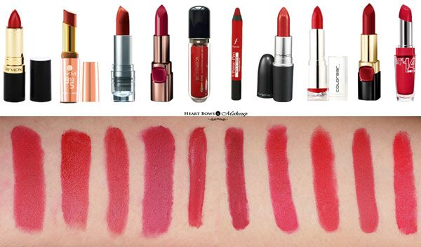 Top 10 Best Matte Red Lipsticks In India Affordable Drugstore Brands