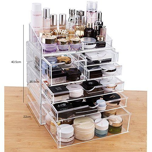 Acrylic Makeup Organizer Cube 5 Drawers Storage Box For Vanity