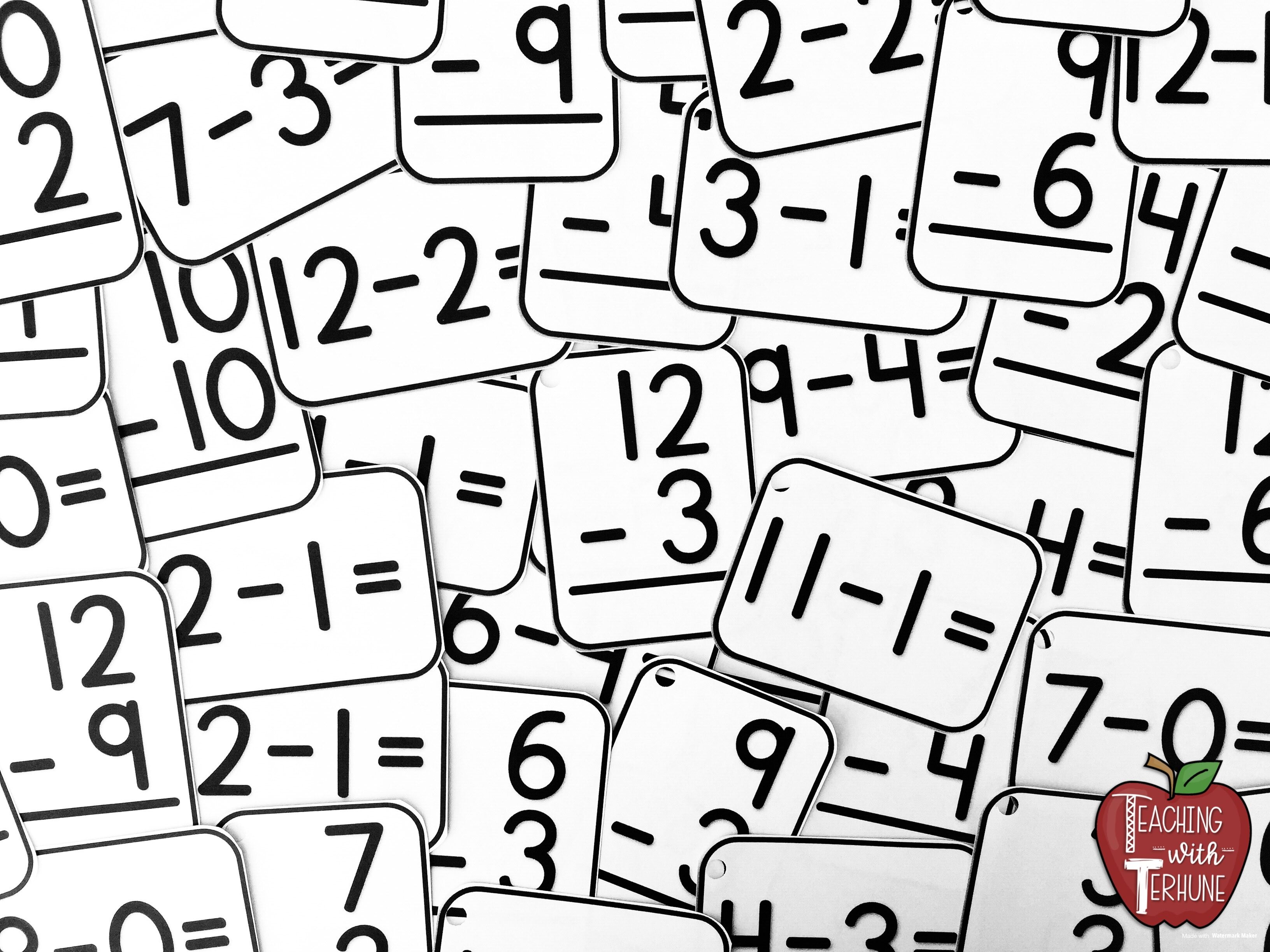 Subtraction Flash Cards Printable Flashcards With Answers