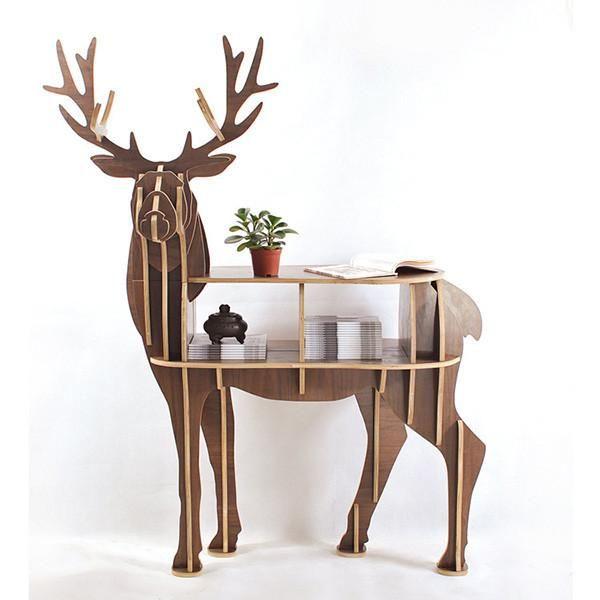 Sturdy Deer Elk Coffee Table