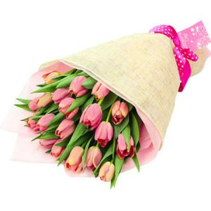 Gift Wrapped Tulips for Mum