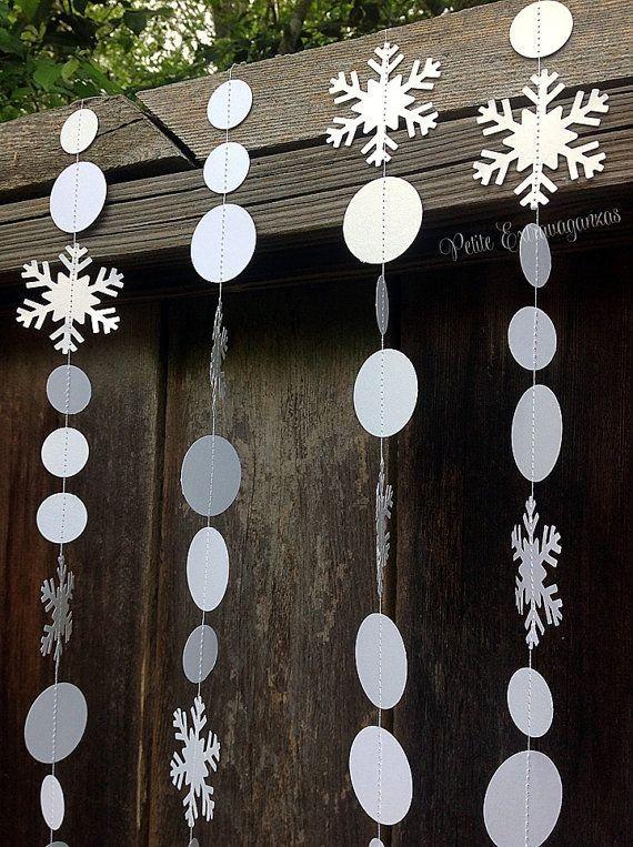 Snowflake Frozen Paper Garland Decoration 2014 Halloween