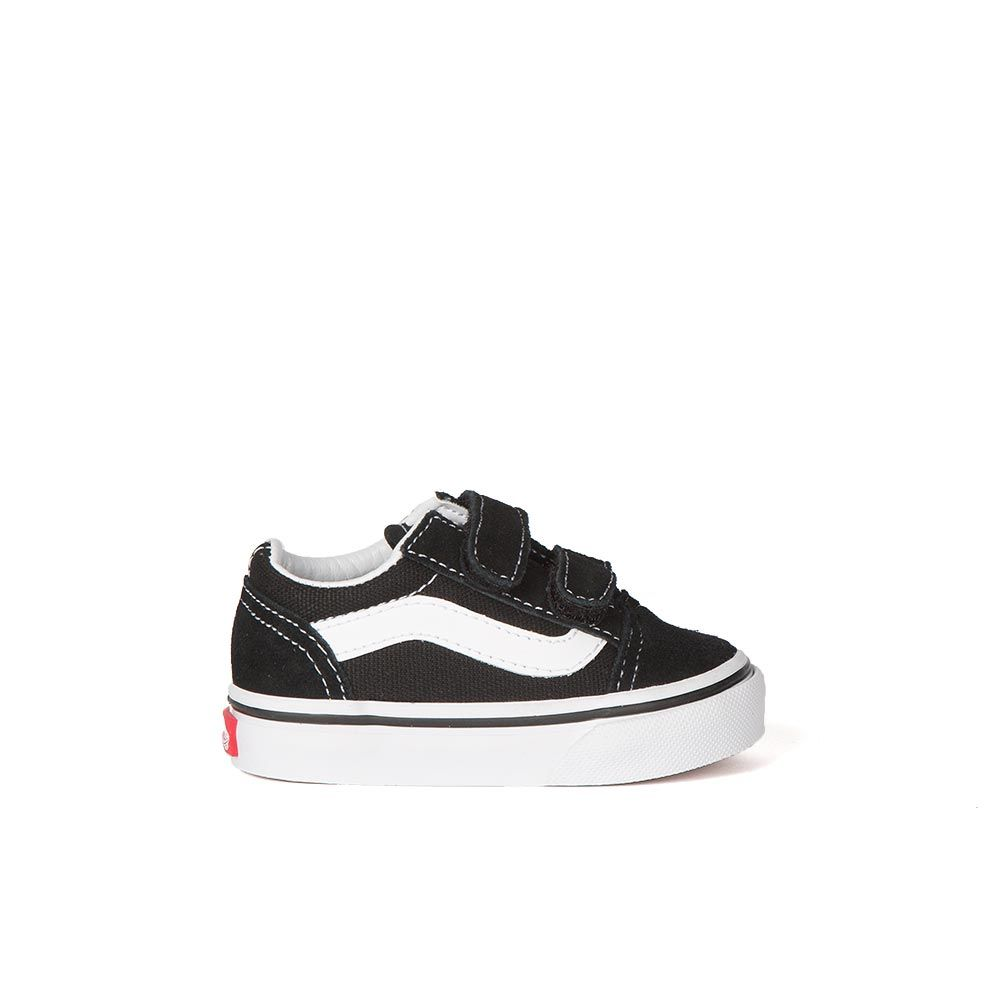 velcro vans kids black