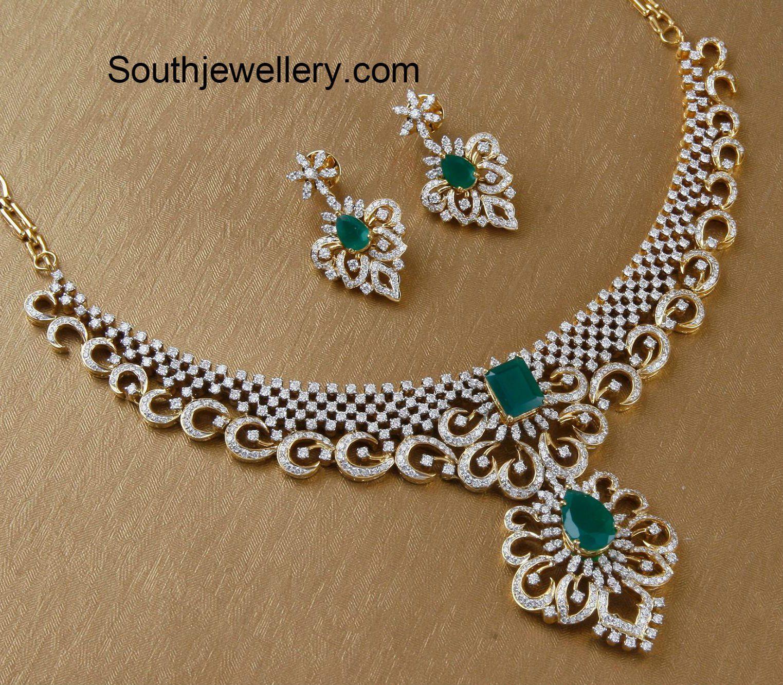 Diamond necklace set jewellery pinterest diamond necklace set