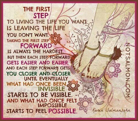 Take that first step....