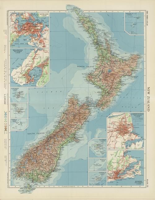 New Zealand 1958 maps Asia Pacific Region