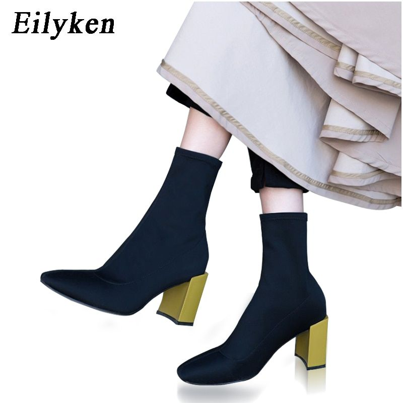 dwayne Teahoo Soft Suede Women High Heels Ankle Boots Sexy
