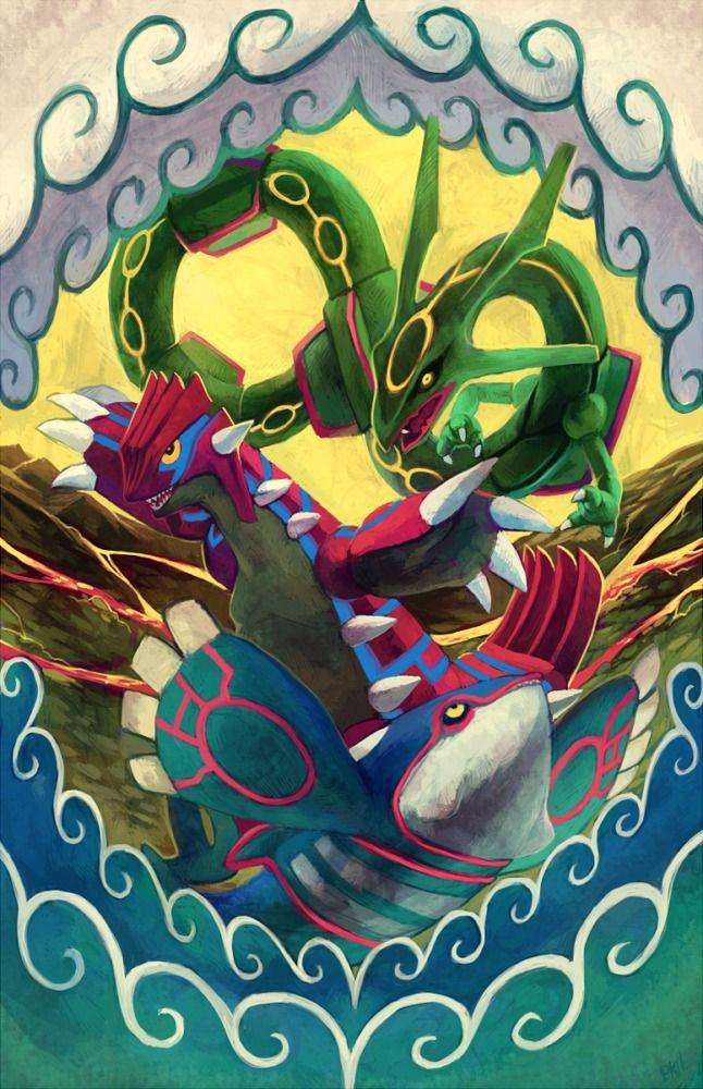 Weather trio (by PurpleKecleon) Pokemon, Pokemon art