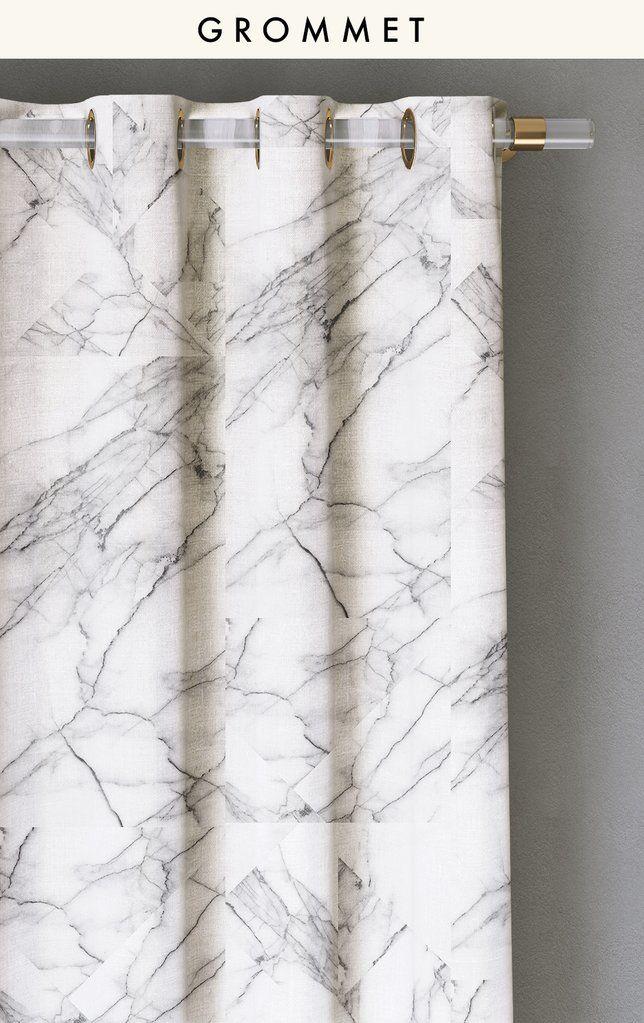 Drapery marble saarinen by bree schaap drop it modern curtains drapescurtain fabricdraperymarble printmodern designhyggemodern interiorswindow