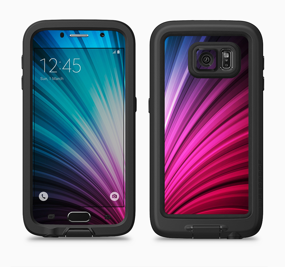 The Swirly HD Pink & Blue Lines Full Body Samsung Galaxy S6 LifeProof Fre Case Skin Kit