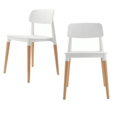 Cozyblock Bel Series White Modern Accent Dining Side Chair With