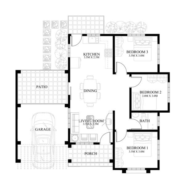 Small House Design 2013004 Pinoy Eplans Small House Design Plans Small House Floor Plans Small House Design Floor Plan