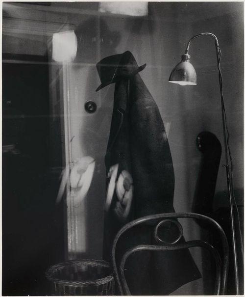 Václav Chochola-Vésak- Coat, lamp, reflections,1944
