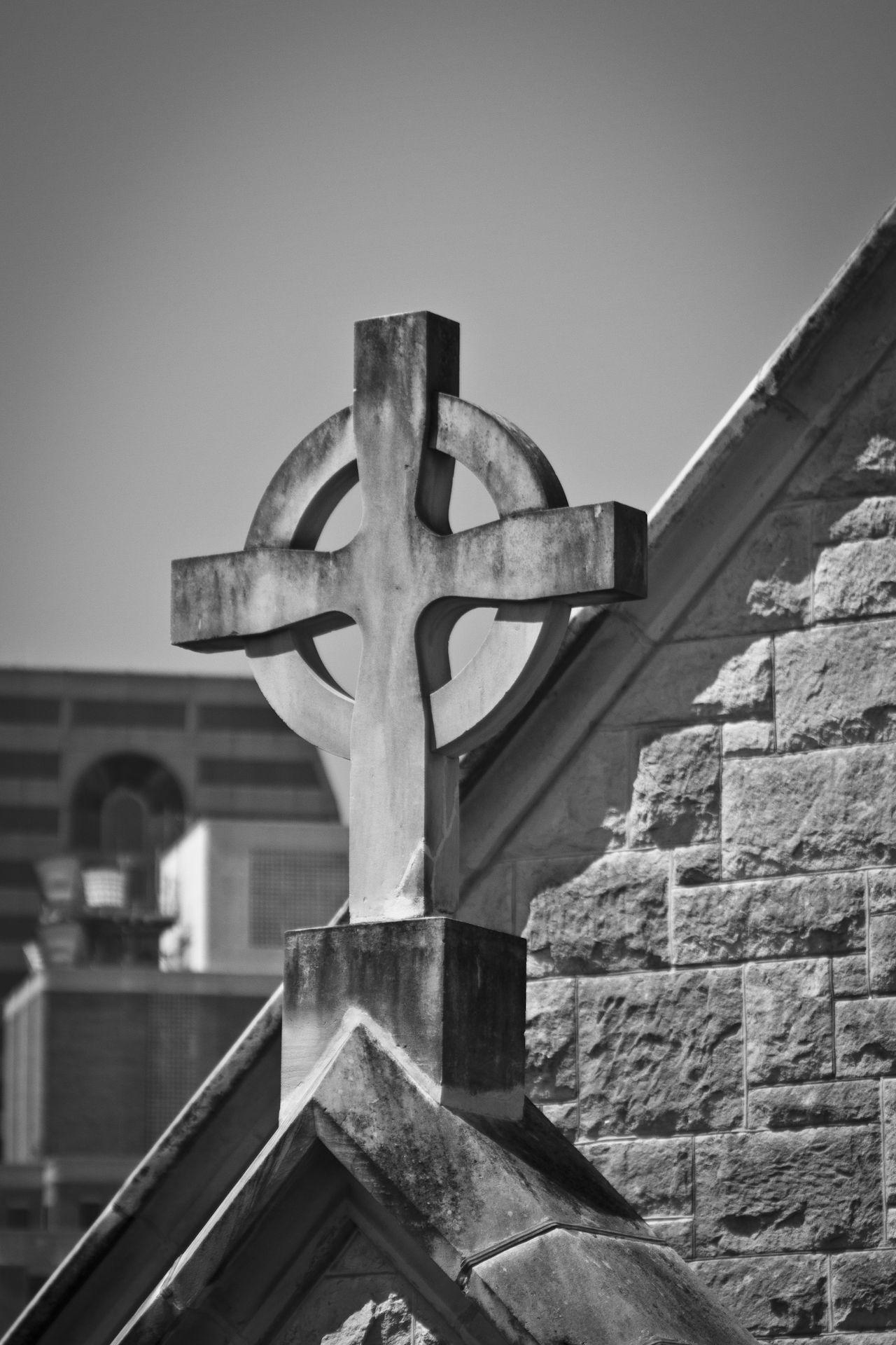 Beautiful Stone Cross At First Presbyterian Church San