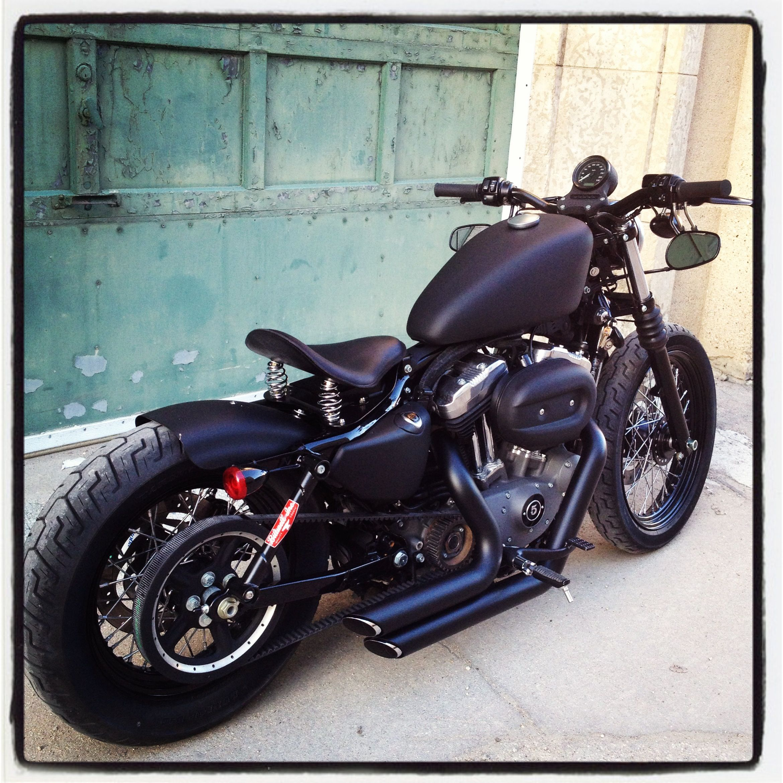 Harley Davidson Nightster Custom Flat Black Bobber Harley Davidson Chopper Harley Bobber Harley Davidson Bikes