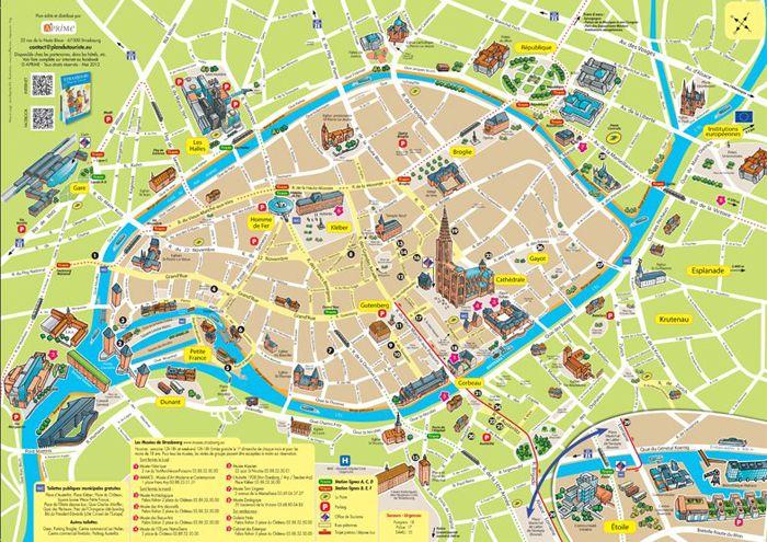 Plan De La Ville Strasbourg Du Touriste Great Ideas And