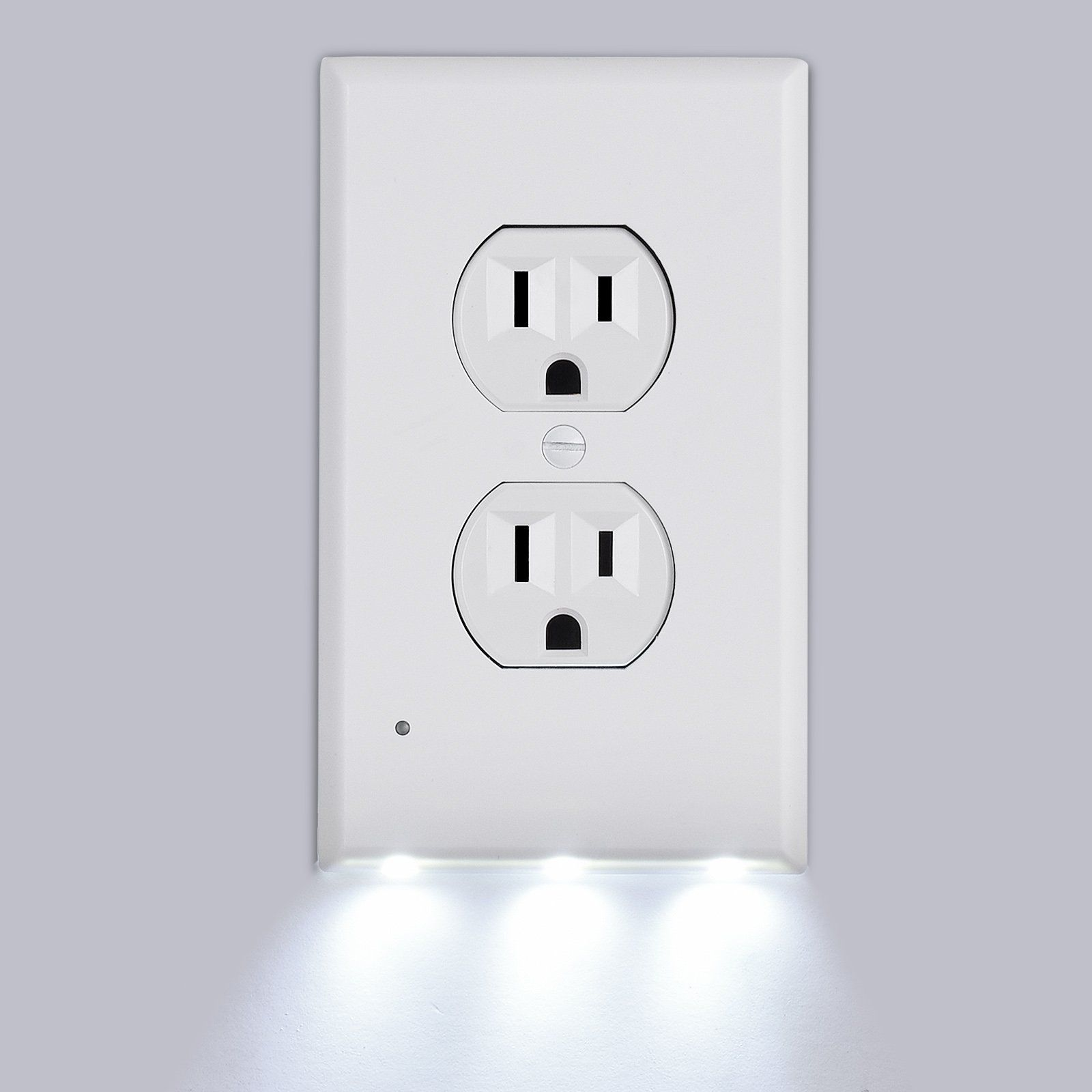 Outlet Covers, Tensun Duplex Wall Plate with LED Night Light Switch ...
