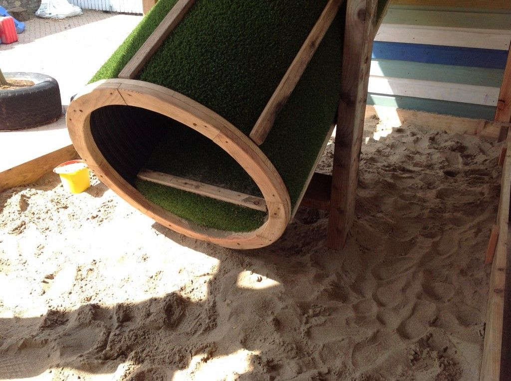 Always consider using sand its a safety surface and play