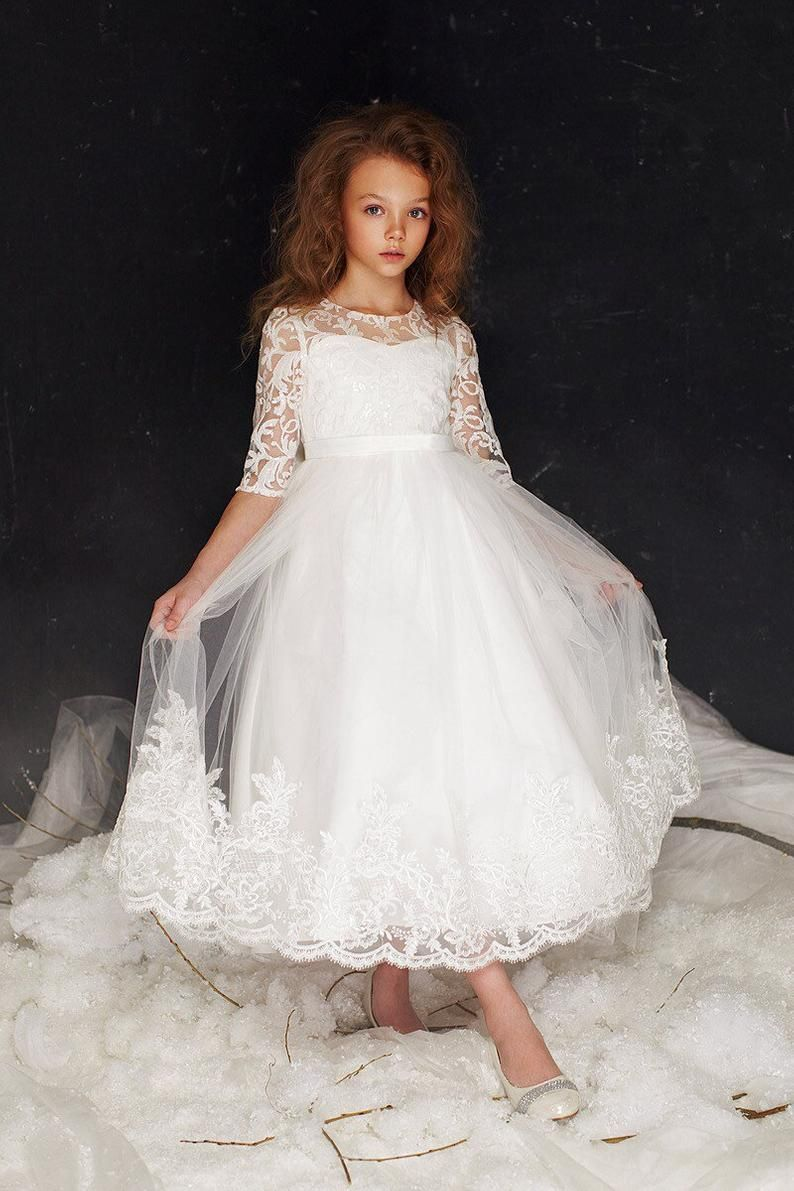 Lily Dress First Communion Long Sleeve Girls Flowergirl Lace Holy Communion Dress Accessories Communion Dresses Lace First Communion Dresses Girls Communion Dresses [ 1191 x 794 Pixel ]