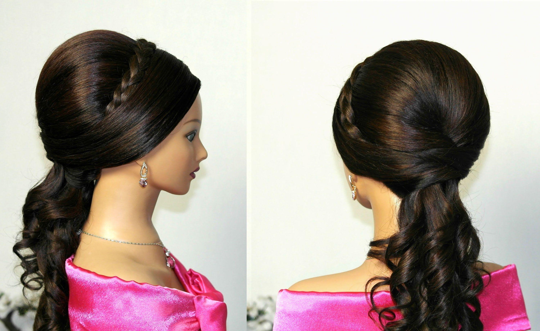 Праздничная прическа на длинные волосы. Wedding prom hairstyles for ...