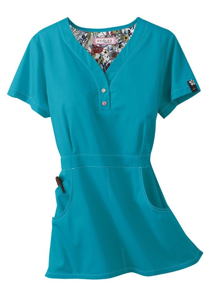 Cute scrub top i need to get some new ones fashion for Spa uniform patterns