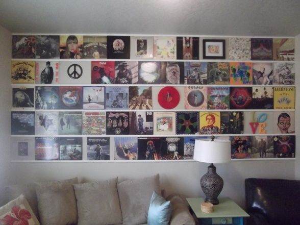 Possibility For Music Room Wall We Have The Records Album Covers And Probably Some 8 Tracks Music Room Wall Record Wall Display Music Room