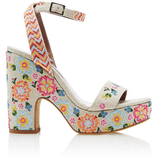 54f1b8ee95f3 Tabitha Simmons Calla Festival Wedge (623.890 CLP) ❤ liked on Polyvore  featuring shoes
