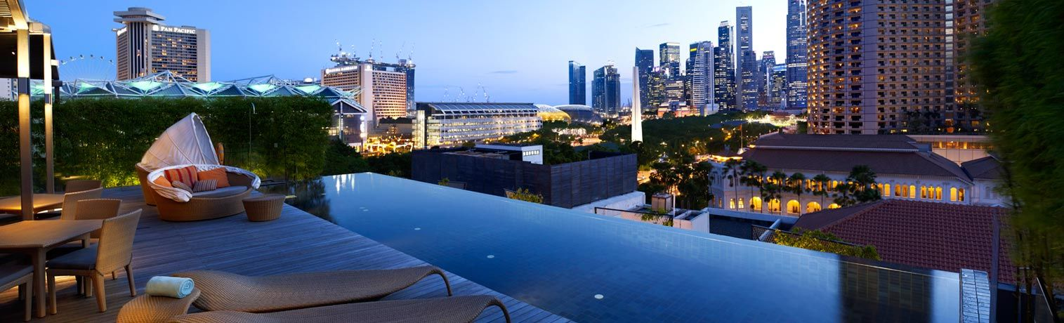 Gorgeous View Of The Lion City From Rooftop Infinity Pool Naumi Hotel In Singapore