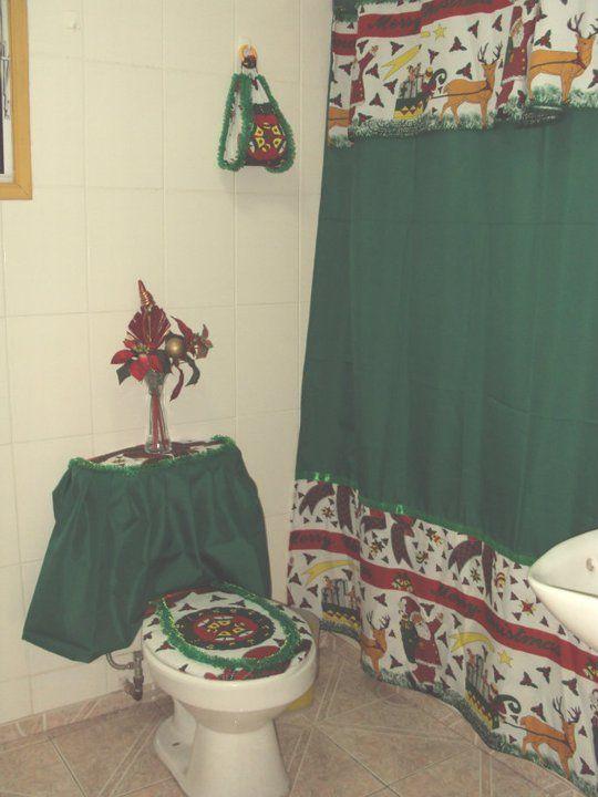 Creaciones Maria Silvia Cortinas de Navidad Baño Pinterest