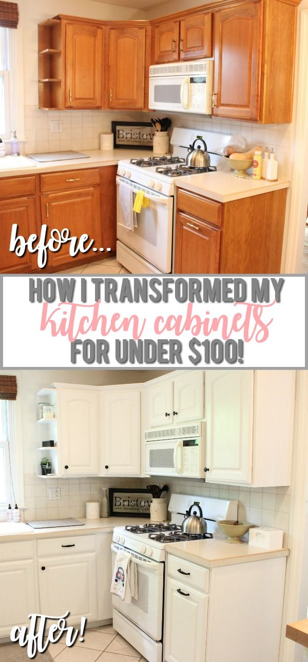 Painting Kitchen Cabinets From Oak To White  Stepbystep Video Prepossessing Pinterest Painted Kitchen Cabinets Design Ideas