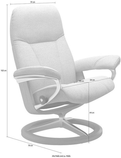 Photo of Buy Stressless® Relaxchair »Consul«, with Signature Base, size L, oak frame online OTTO